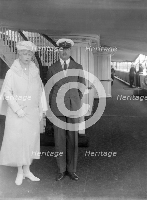 Queen Mary and Prince Henry aboard 'HMY Victoria and Albert', c1933. Creator: Kirk & Sons of Cowes.