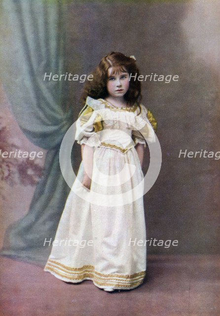 Lady Elizabeth Bowes-Lyon, aged six, 1906-1907 (1923). Artist: Unknown