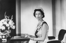 Thumbnail image of Queen Elizabeth (b1926) in the White Drawing Room, Buckingham Palace, London, 1967. Artist: Unknown