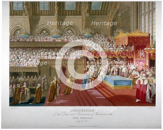 Coronation of King George IV, Westminster Hall, London, 1821 (1824).                                 Artist: Matthew Dubourg