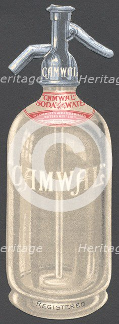 Camwal Soda Water, 1890s. Artist: Unknown