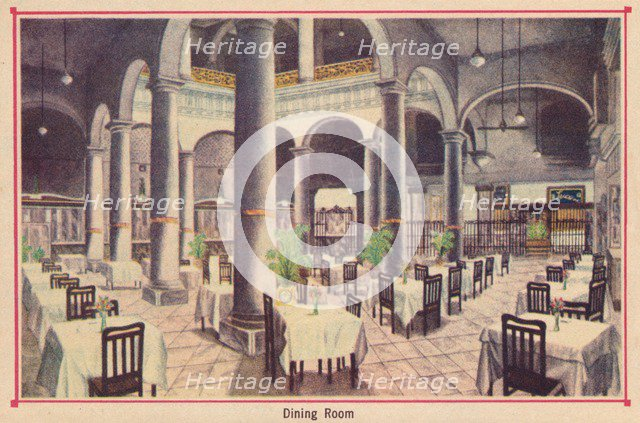 'Dining Room - Hotel Florida - Havana - Cuba', c1910. Artist: Unknown.