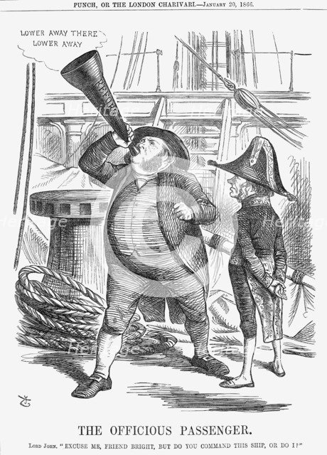'The Officious Passenger', 1866. Artist: John Tenniel