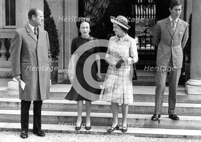 Prince Philip, the Duchess of Windsor, Queen Elizabeth II and Prince Charles, c1960s. Artist: Unknown