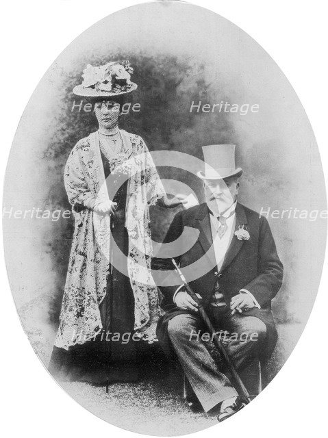 King Edward VII and Queen Alexandra, c1900s (1910).Artist: D Knights Whittome