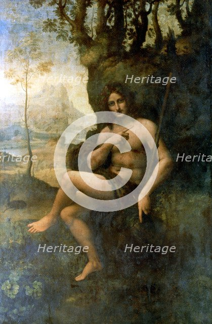'John the Baptist, with the attributes of Bacchus', 1513-1516.  Artist: Leonardo da Vinci