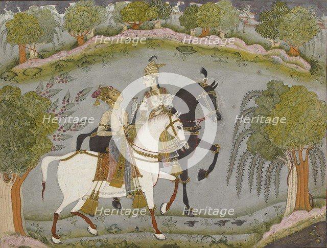 Baz Bahadur and Rupmati, c1720. Artist: Unknown.