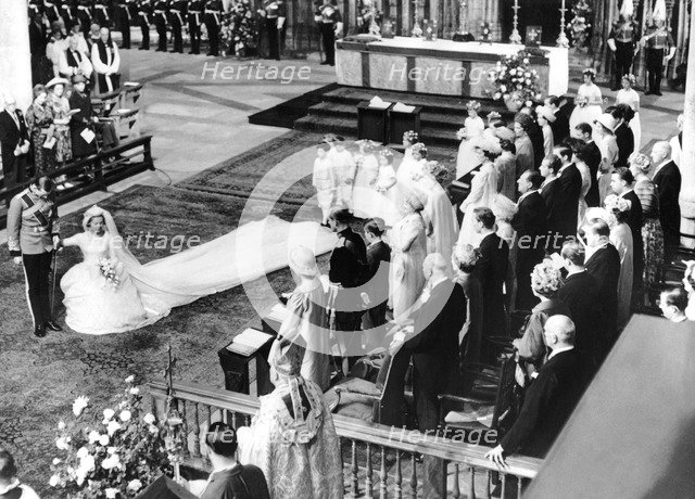 Royal Family, wedding of Duke of Kent and Katherine Worsley, 1961. Artist: Unknown