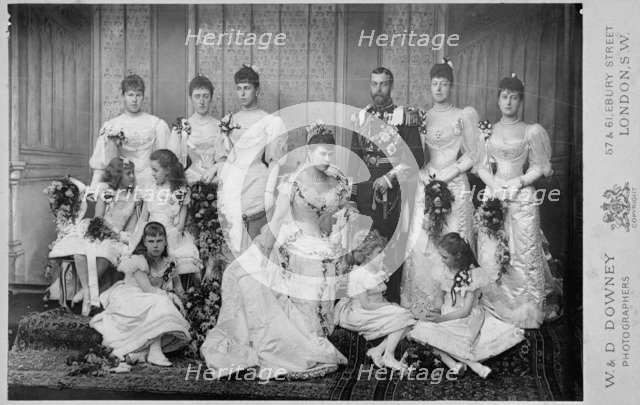 The Wedding Group of Duke and Duchess of York, 6th July 1893. Artist: Unknown