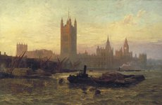 Thumbnail image of 'The Palace of Westminster', 1892. Artist: George Vicat Cole