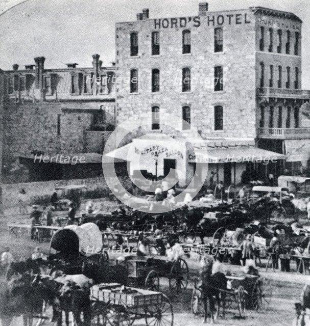 San Antonio, Texas, USA, 1876, (1954). Artist: Unknown