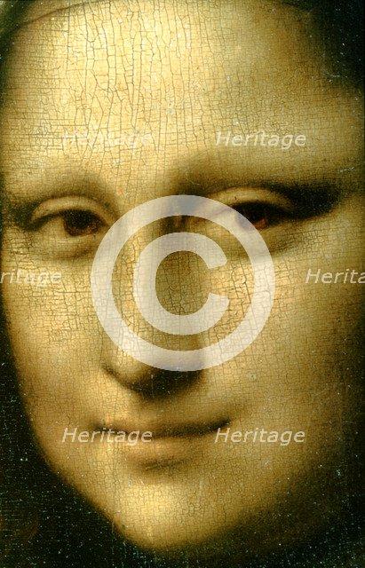 'Portrait of Mona Lisa' (detail), 1503-1506. Artist: Leonardo da Vinci