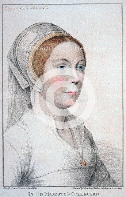 Catherine Howard, fifth wife of Henry VIII, (1796). Artist: Francesco Bartolozzi