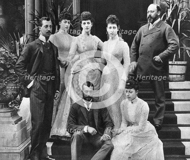 King Edward VII's family, Marlborough House, London, c1890 (1935). Artist: Unknown