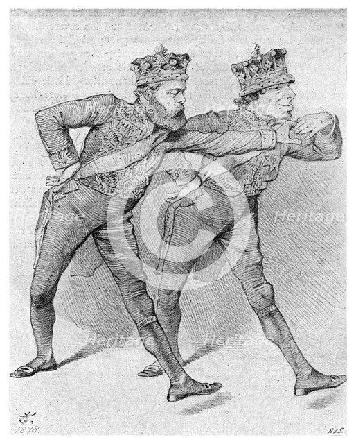 'The Political Pas de Deux', 1878 (1895). Artist: Unknown