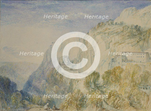 Mount Lebanon and the Convent of St Antonio, c1832-1834. Artist: JMW Turner.