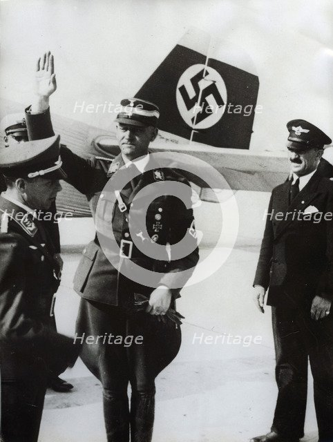 Viktor Lutze, commander of the SA, Munich Airport, Germany, 1934. Artist: Unknown