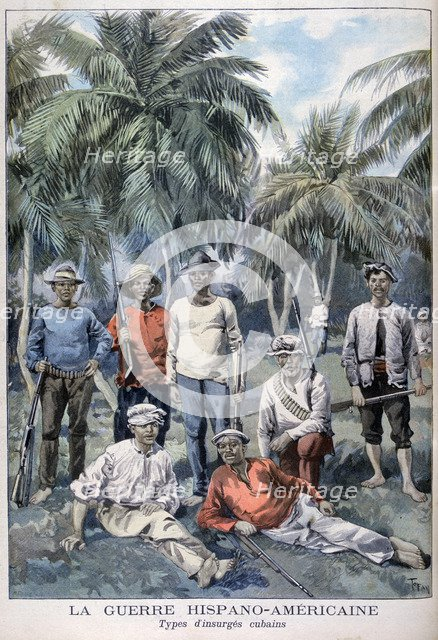 Insurgent Cubans during the Spanish-American War, 1898. Artist: F Meaulle