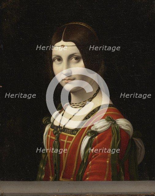 Portrait of an Unknown Woman, called La Belle Ferronnière, before 1750. Artist: Leonardo Da Vinci, Follower