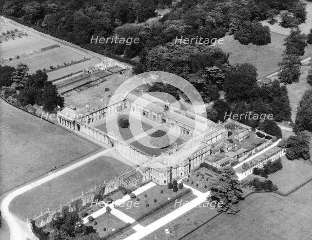 Aerial view of Worksop Manor, Nottinghamshire, August 1956. Artist: Unknown