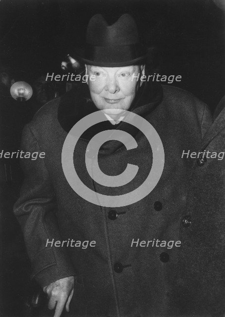 Sir Winston Churchill (1874-1965), British prime minister, 1961. Artist: Unknown