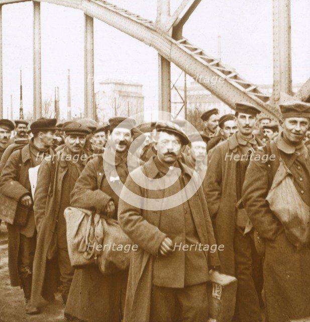 Return of soldiers from Alsace-Lorraine, c1914-c1918. Artist: Unknown.