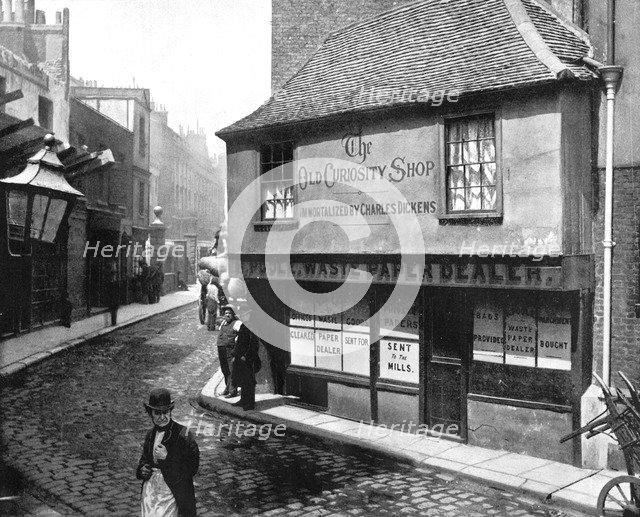 Old Curiosity Shop, London, 1893.Artist: John L Stoddard