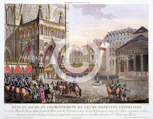 'Sacred Festival and Coronation of their Imperial Majesties', Paris, 1804 (1806).  Artist: Dorgez