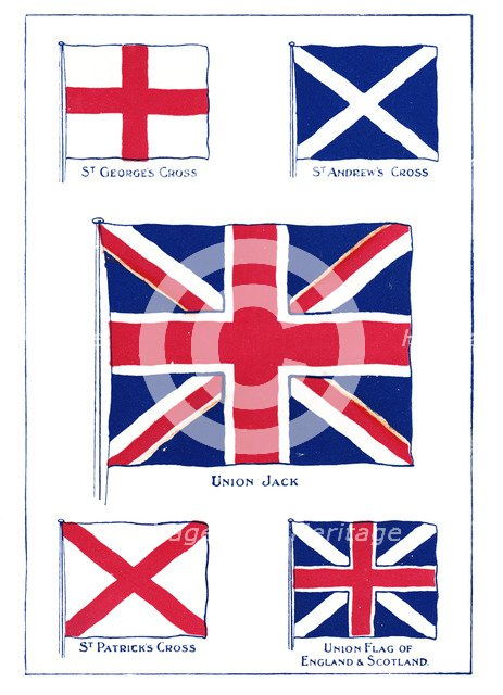 'How the Union Jack was made', 1905.Artist: A S Forrest