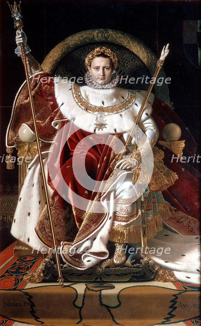 'Napoleon on his Imperial Throne', 1804. Artist: Napoleon Bonaparte I