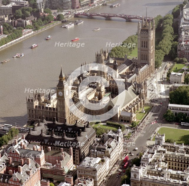 Houses of Parliament, Westminster, London, 2002. Artist: EH/RCHME staff photographer
