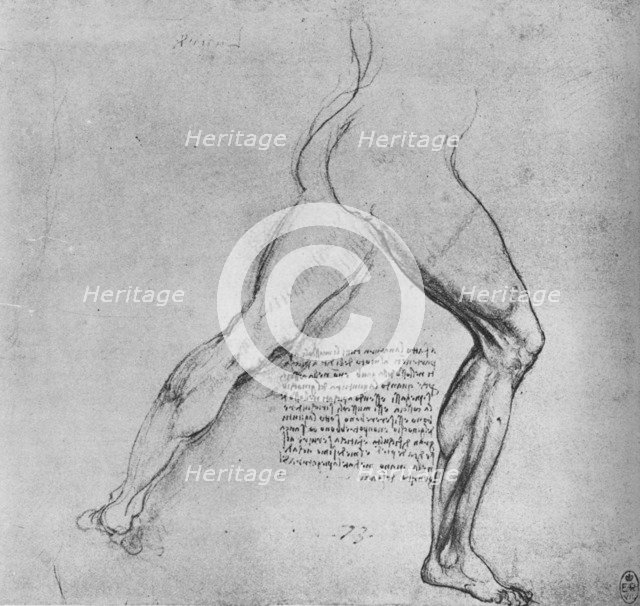 'Study of the Legs of a Man Lunging to the Right', c1480 (1945). Artist: Leonardo da Vinci.