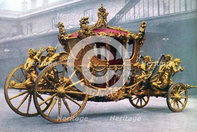 The Gold State Coach, 1762, (1937). Artist: Unknown