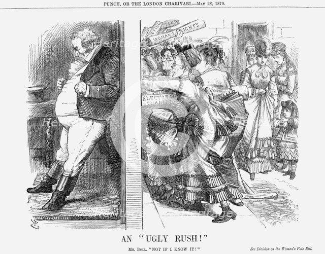 'An Ugly Rush!', 1870. Artist: Joseph Swain