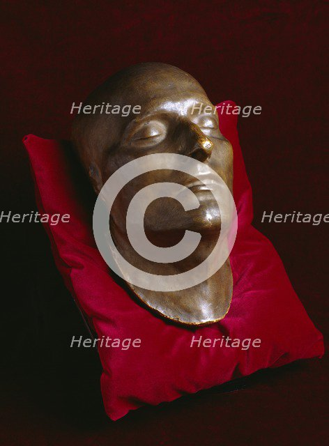 Napoleon's death mask on display in the Basement Gallery, Apsley House, London, c1980-c2017. Artist: Historic England Staff Photographer.