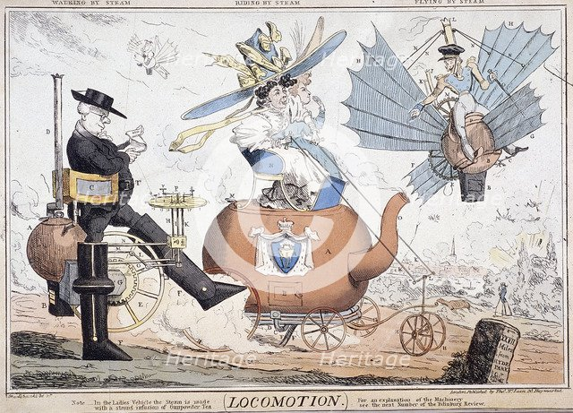 'Locomotion', London, c1820. Artist: George Cruikshank