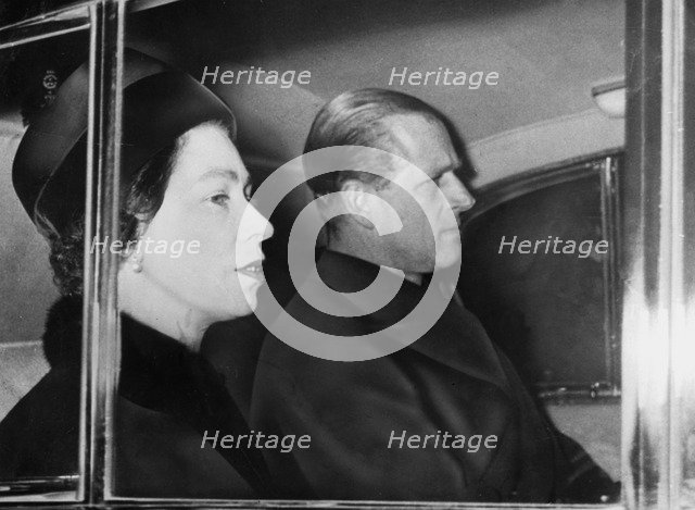 The Queen and the Duke of Edinburgh, 1965. Artist: Unknown