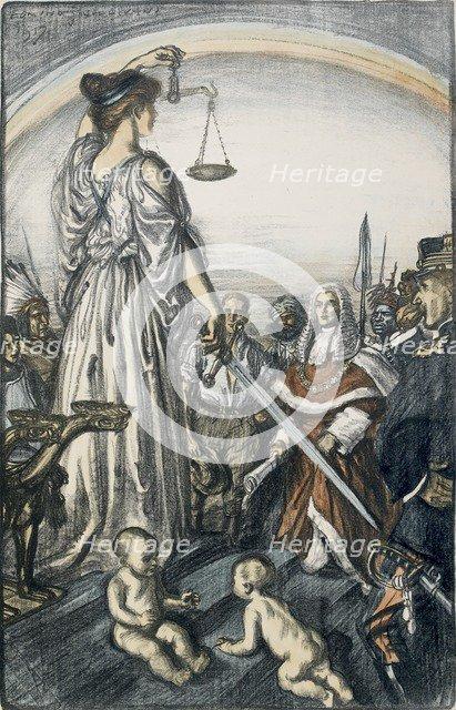 The Reign of Justice, 1917. Artist: Edmund Joseph Sullivan.