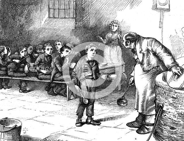 Scene from Oliver Twist by Charles Dickens, 1871. Artist: George Cruikshank