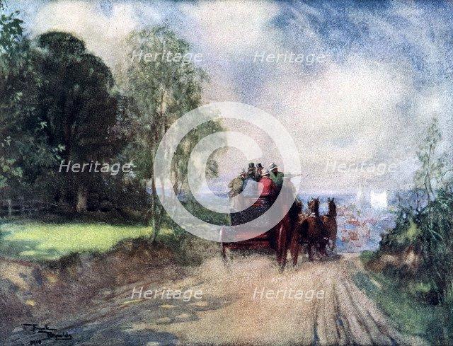 'On the Rochester Coach', c1920. Artist: Frank Reynolds
