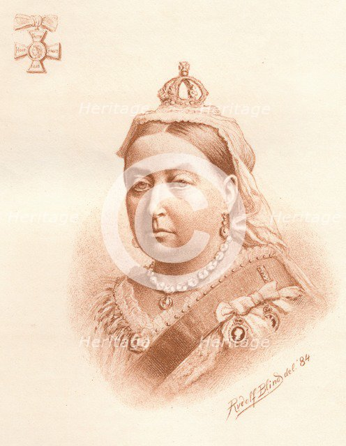 Her Majesty The Queen, Empress of India, 1884. Artist: Rudolf Blind
