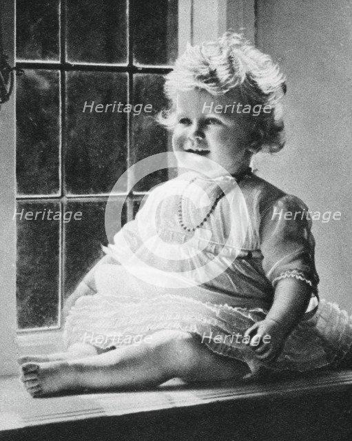 Princess Elizabeth at St Paul's Walden Bury, 1927, (1937). Artist: Unknown