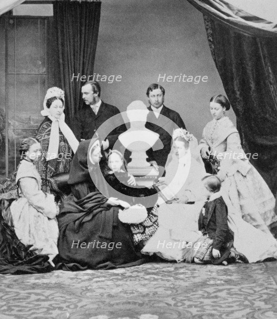 Queen Victoria and her family, Windsor, Berkshire, 1863. Artist: Unknown.