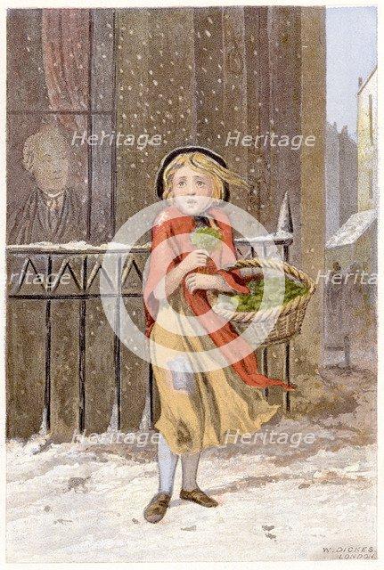 Watercress seller, c1880. Artist: Unknown