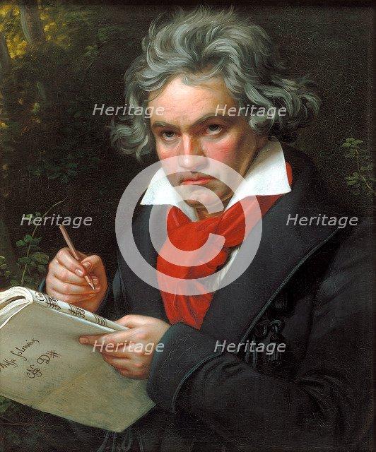 Portrait Ludwig van Beethoven when composing the Missa Solemnis', 1820. Creator: Stieler, Joseph Karl (1781-1858).