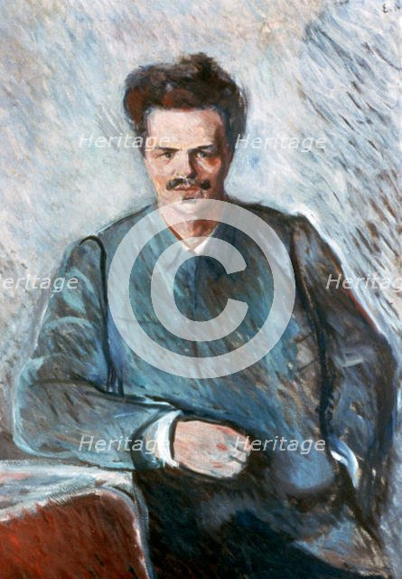 'August Strindberg', 1892. Artist: Edvard Munch