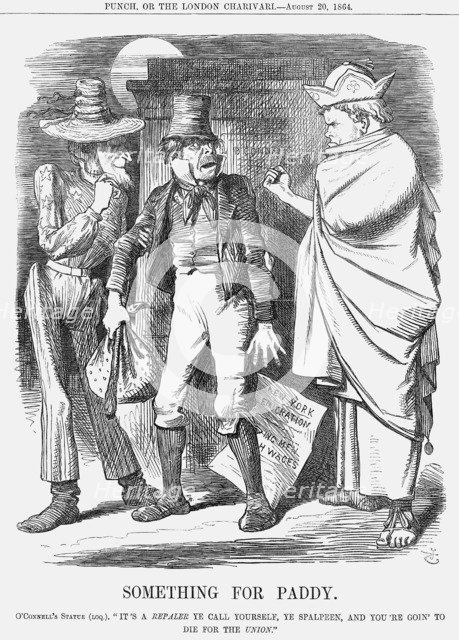 'Something for Paddy', 1864. Artist: John Tenniel