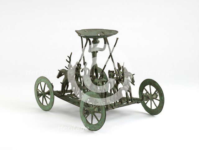 Facsimile of Earl Iron Age Strettweg wagon model, late 19th century. Artist: Unknown.