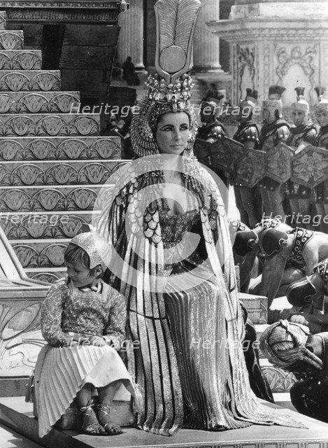Elizabeth Taylor (b1932) in a scene from 'Cleopatra', 1963. Artist: Unknown