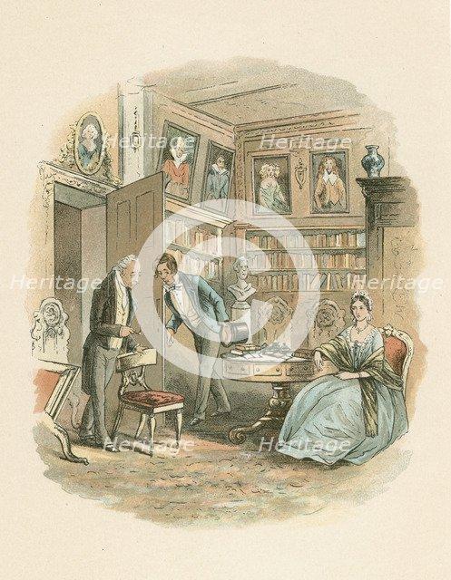 Scene from Bleak House by Charles Dickens, 1852-1853. Artist: Hablot Knight Browne